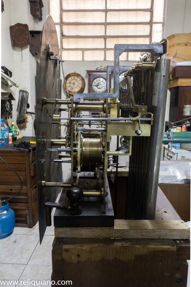 Relógios Antigos restauração Carrilhão Lateral